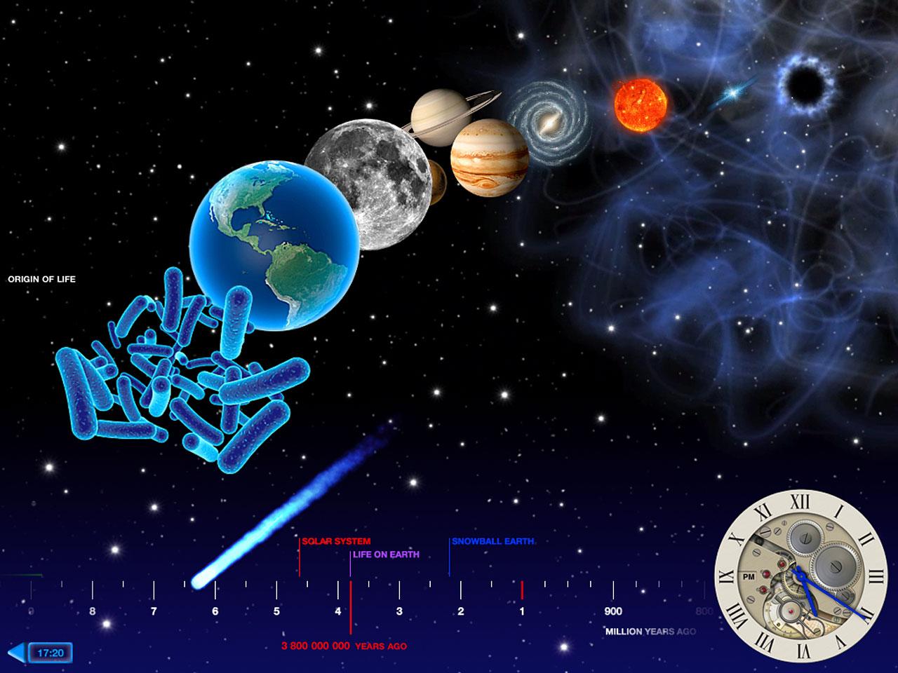 Screenshot of the Back in Time iPad app   ESA/Hubble