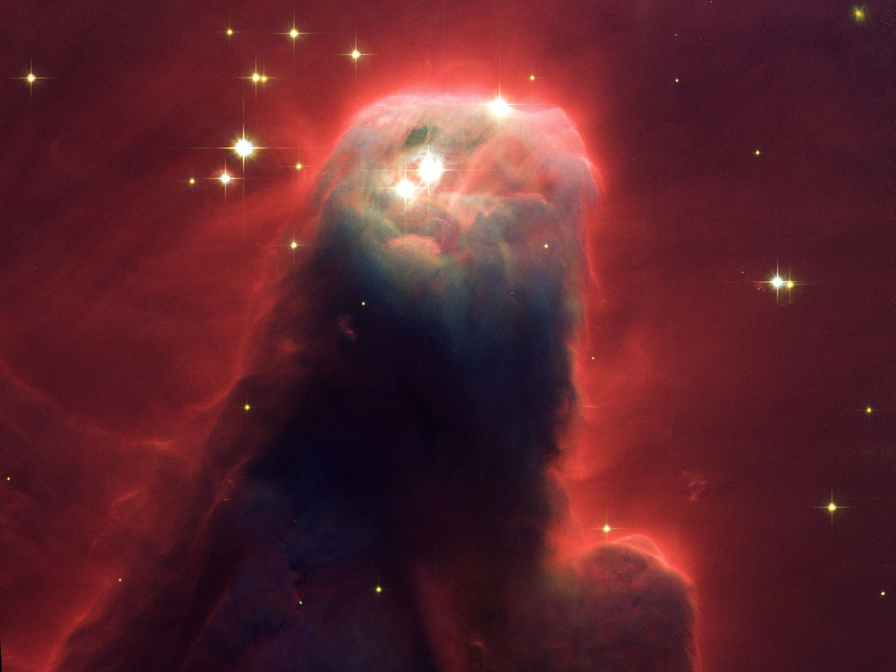 Hubble's newest camera images ghostly star-forming pillar ...