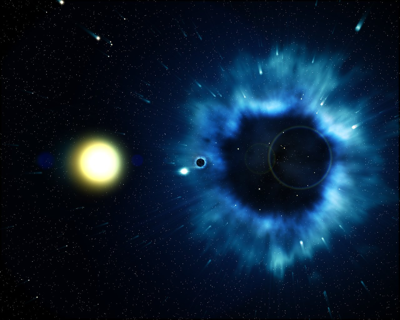 black holes in space 3d - photo #17