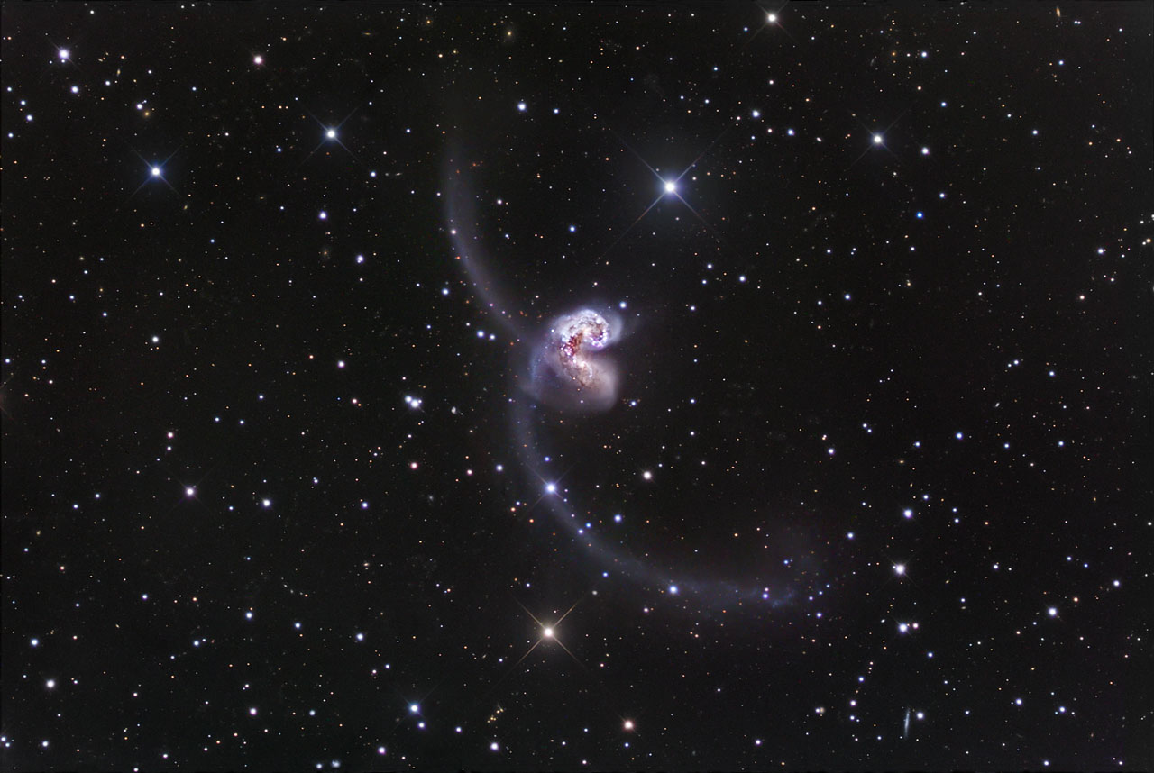 Ground-based image of the Antennae Galaxies | ESA/Hubble