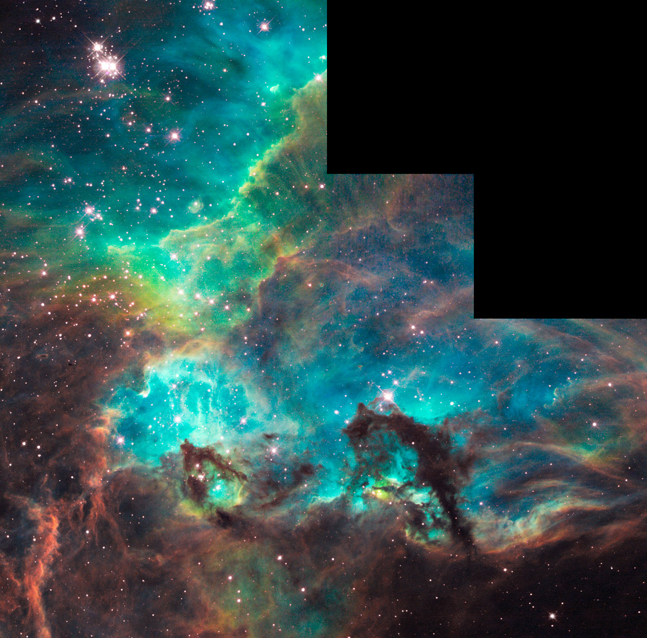 Hubble unveils colourful star birth region on 100 000th ...