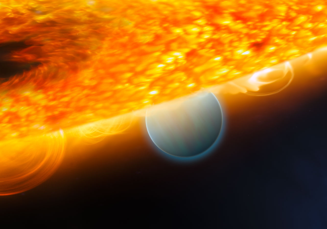Hubble finds carbon dioxide on an extrasolar planet   ESA ...