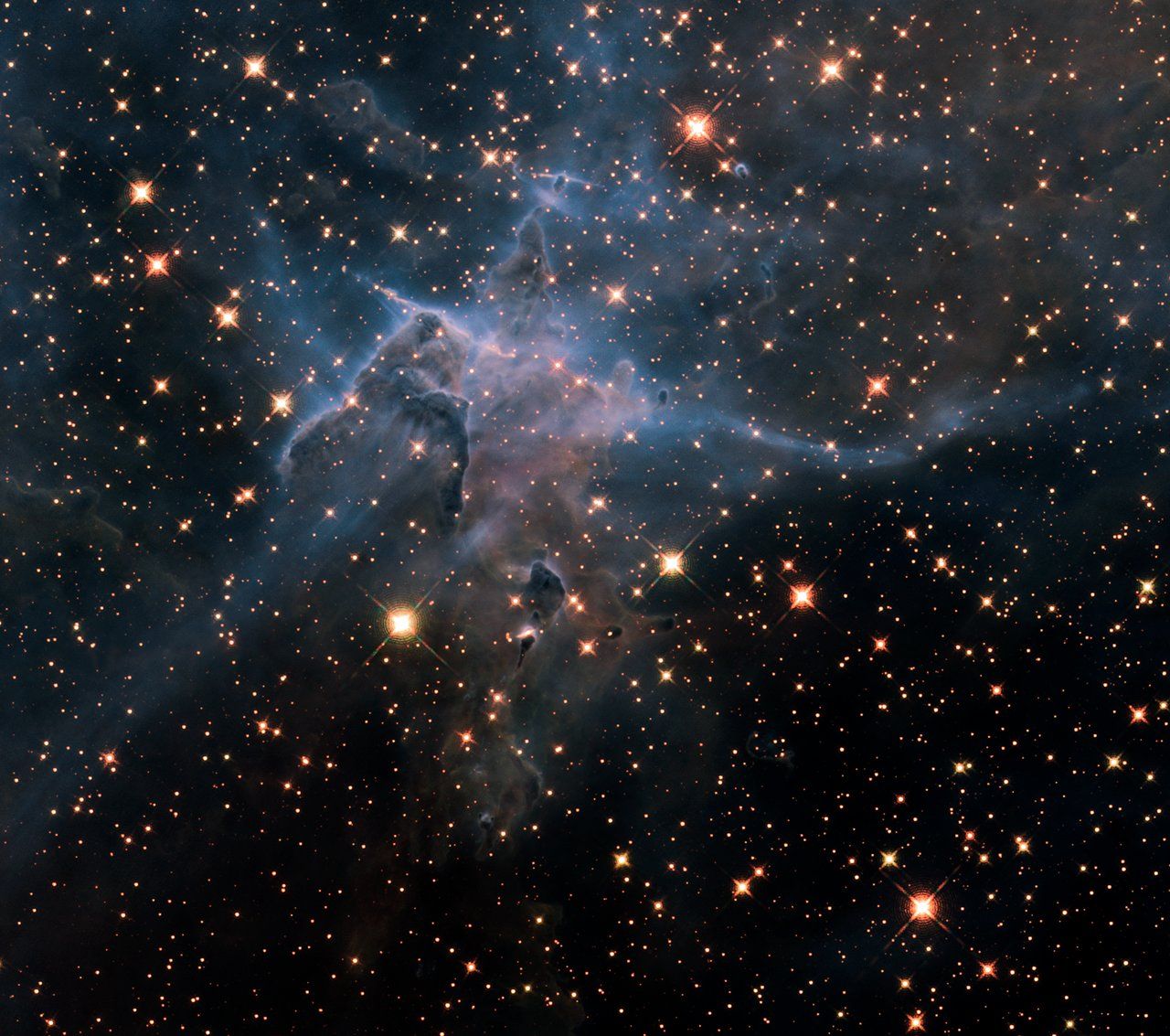 """Hubble's wide view of """"Mystic Mountain"""" in the infrared ..."""
