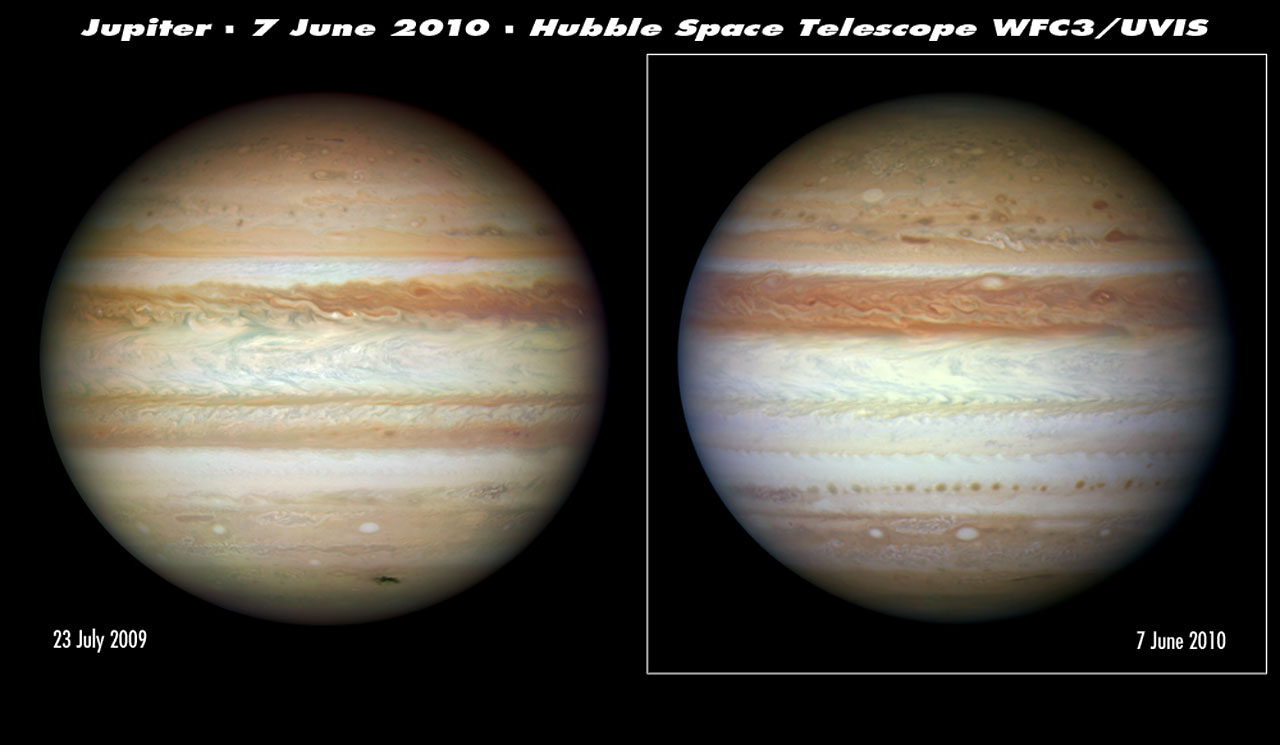 Hubble sees Jupiter change its stripes | ESA/Hubble
