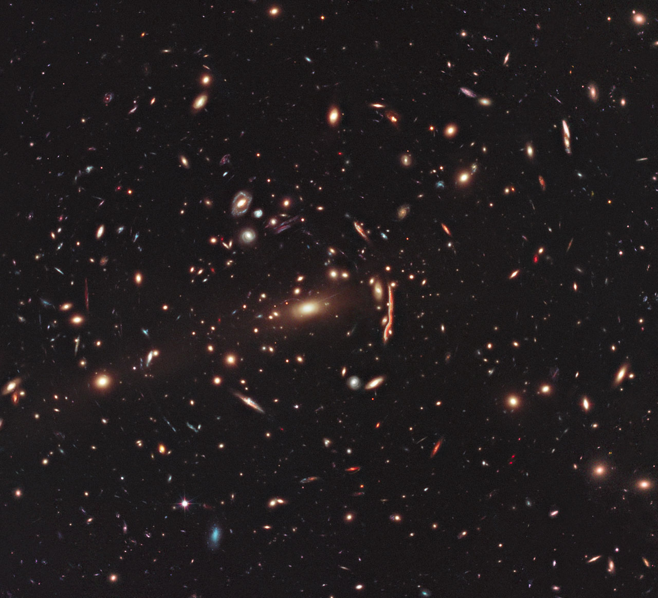 galaxies swarm and light bends under dark matter s sway bad rh blogs discovermagazine com