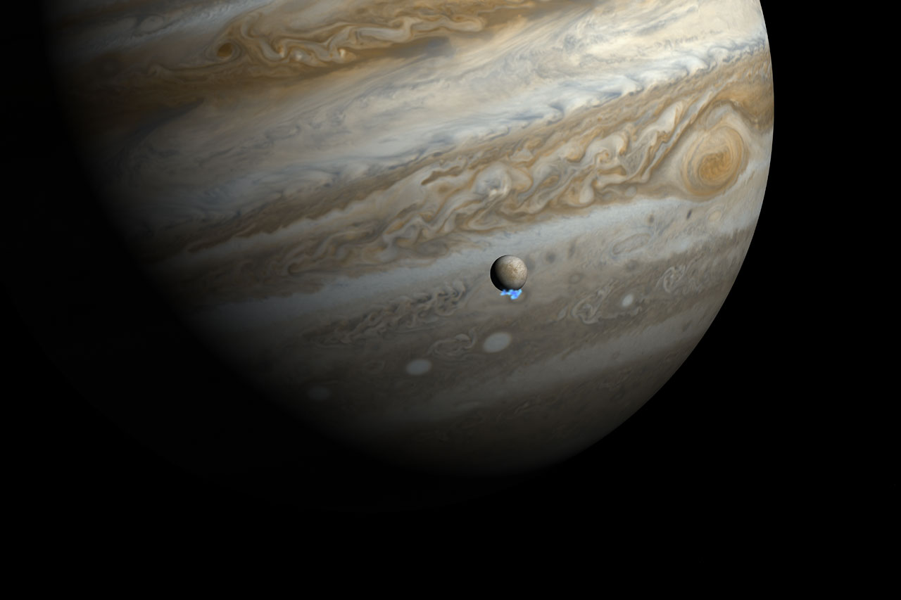 Hubble discovers water vapour venting from Jupiter's moon ...