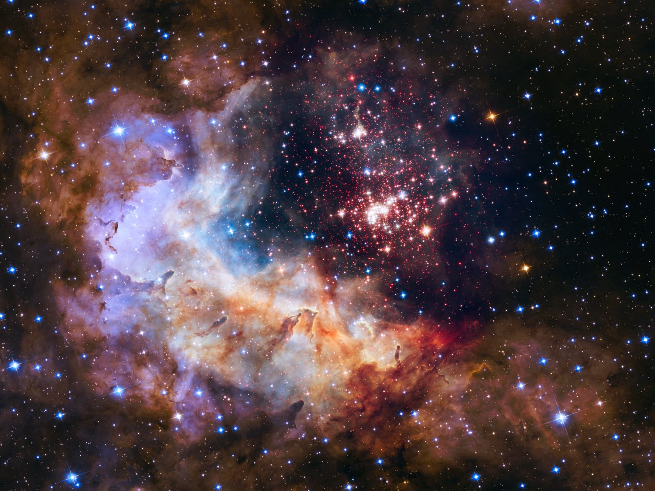 Photo Release: Celestial fireworks celebrate Hubble's 25th anniversary