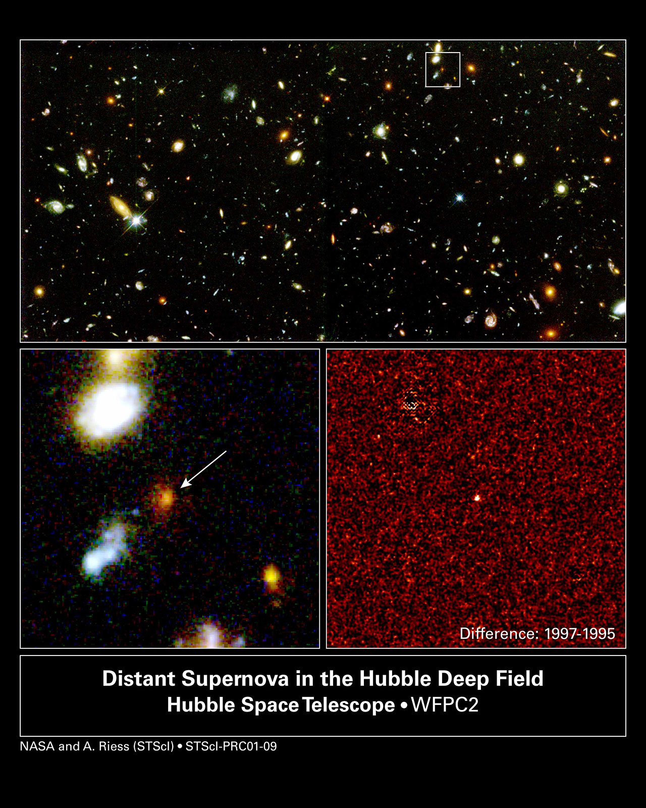Farthest Supernova Ever Sn 1997ff Overview Esa Hubble