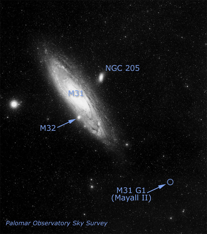 Location of Globular Cluster G1 in Galaxy M31 | ESA/Hubble