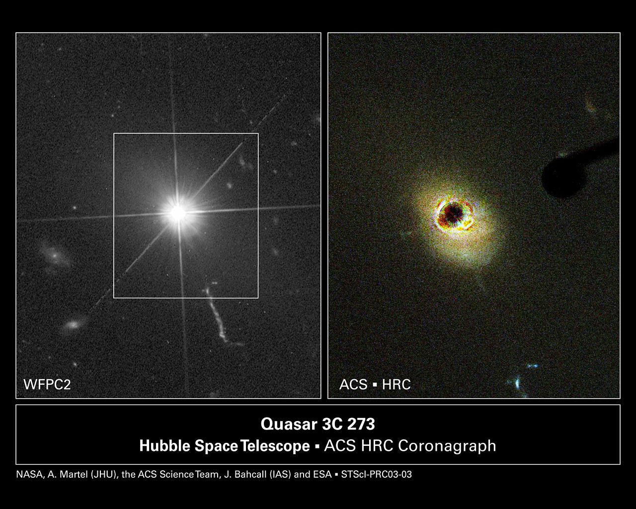 Hubble Probes the Heart of a Nearby Quasar   ESA/Hubble