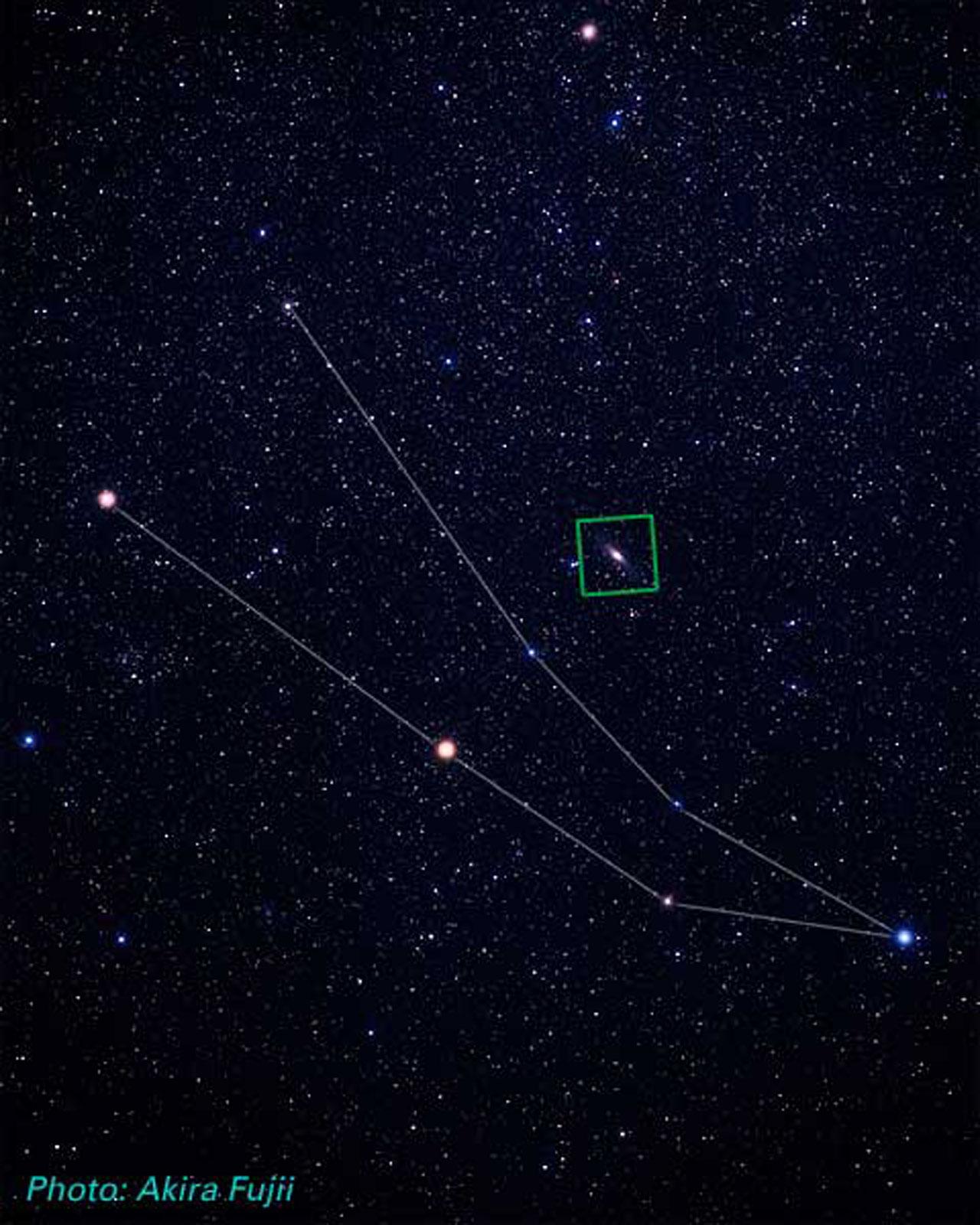Andromeda Galaxy Location