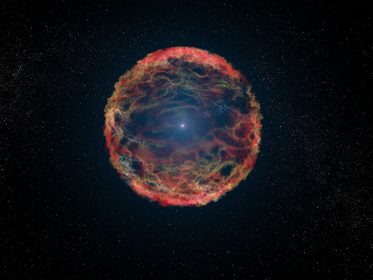 Artist's impression of supernova 1993J | ESA/Hubble