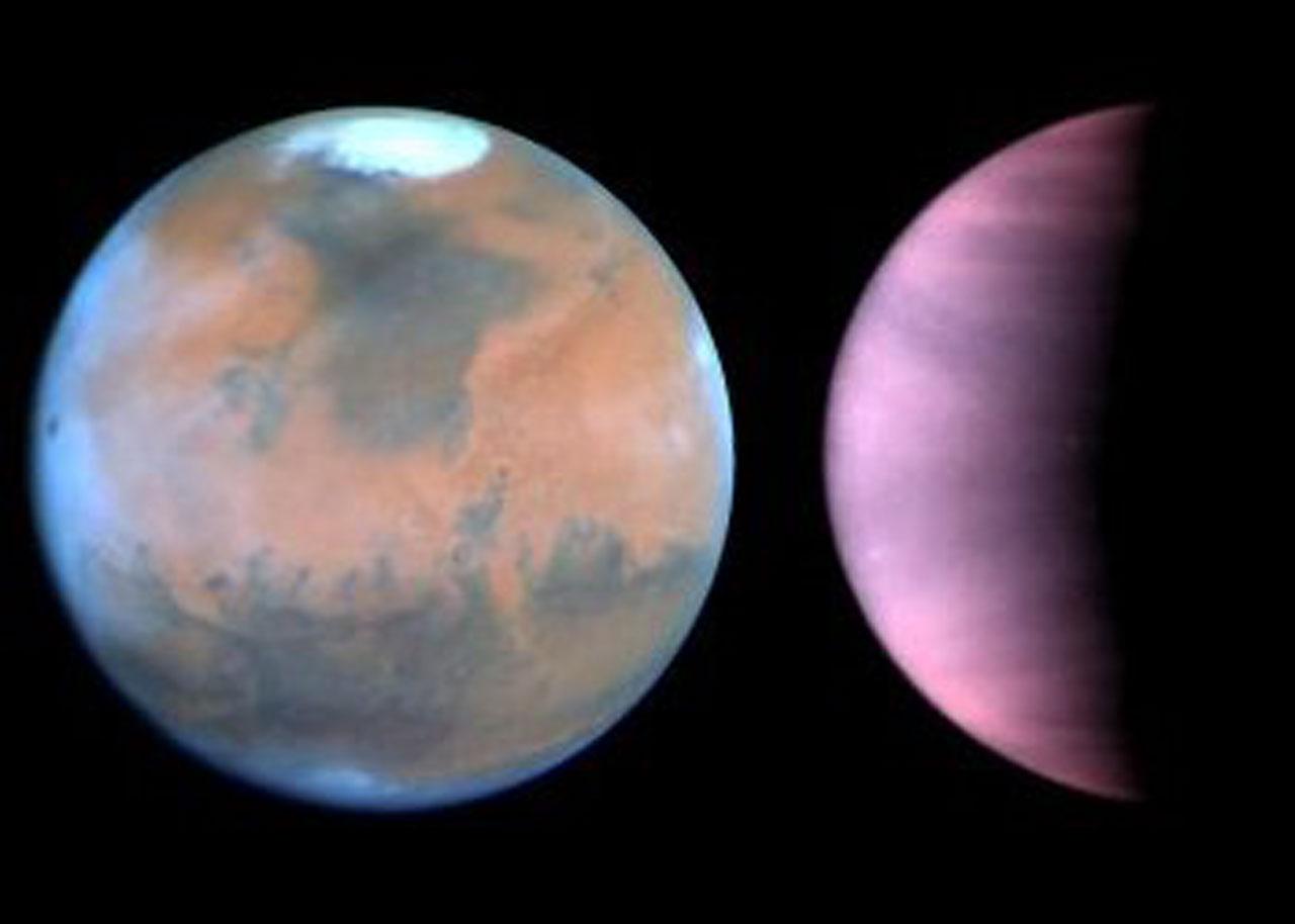 Hubble Monitors Weather on Mars and Venus   ESA/Hubble