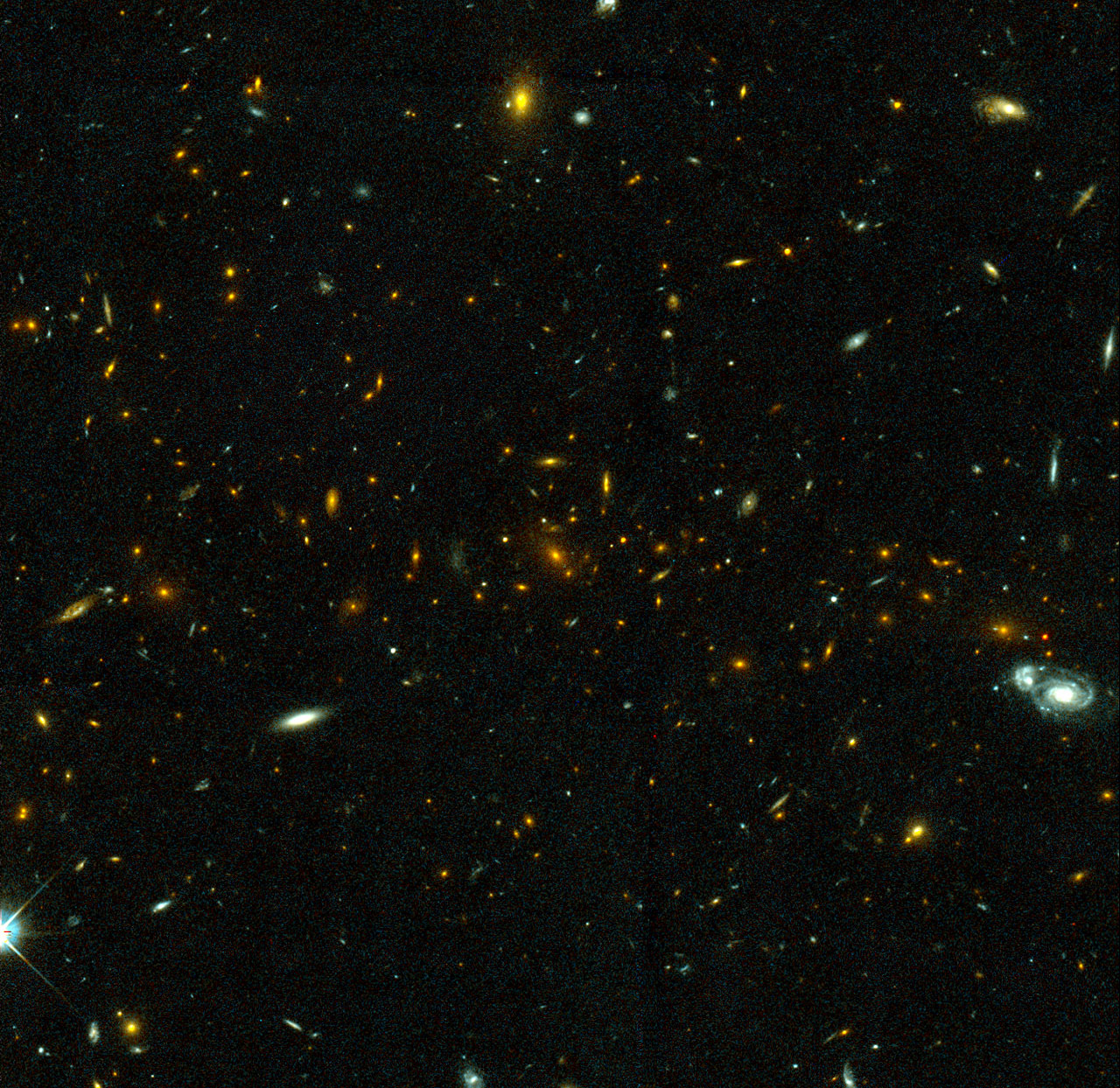 Hubble Galaxy Cluster - Pics about space