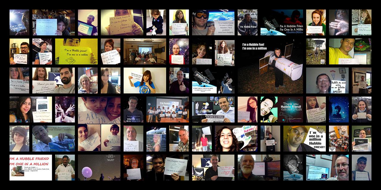 Hubble reaches 1 million Facebook likes