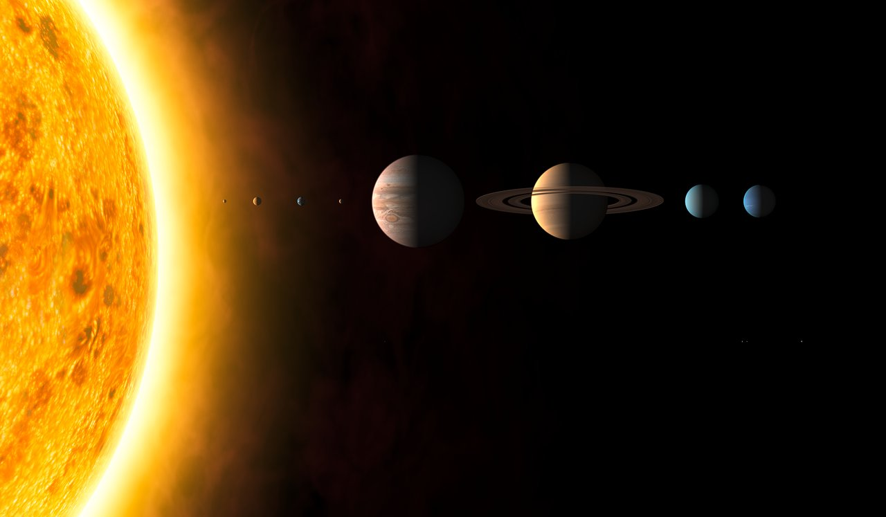 Solar System (artist's impression)   ESA/Hubble
