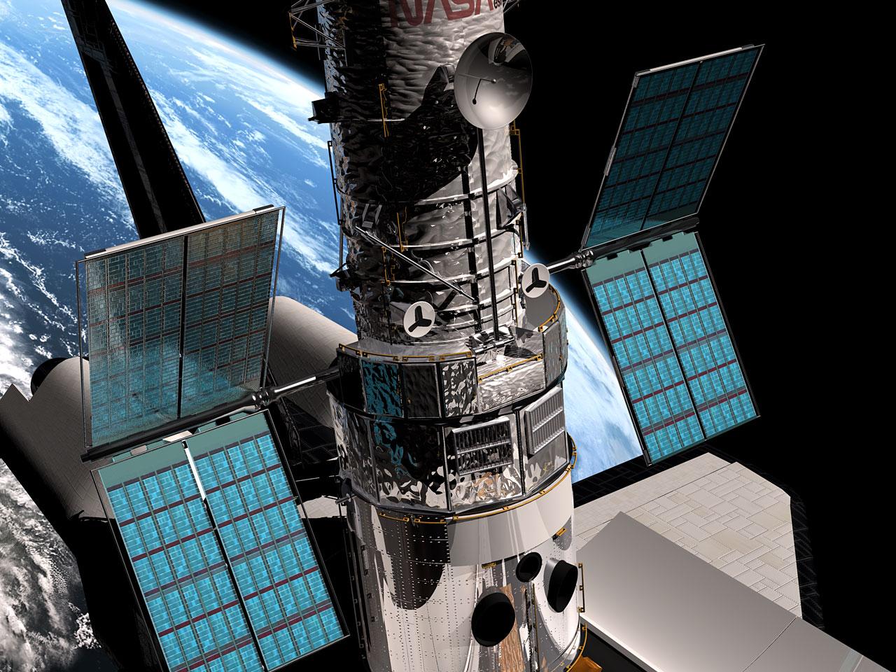 الألواح الشمسية لتلسكوب هابل