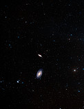 Digitized Sky Survey 2 image of M82 and M81 (ground-based image)