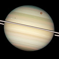 Quadruple Saturn moon transit snapped by Hubble