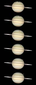 Photo sequence of Saturn: 24 February 2009