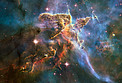 "Hubble captures spectacular ""landscape"" in the Carina Nebula"