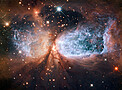 Hubble view of star-forming region S106