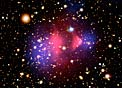Visible-Light and X-Ray Composite Image of Galaxy Cluster 1E 0657-556
