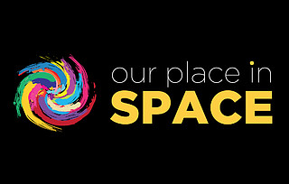 Our place in space logo (dark)