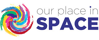 Our place in space logo (light)