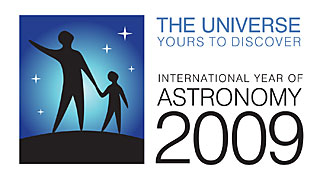 International Year of Astronomy 2009 Logo (horizontal)