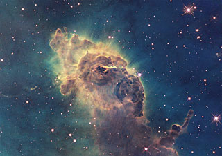 Postcard14: Detail in the Carina Nebula