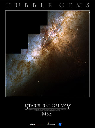 Starburst Galaxy Messier 82
