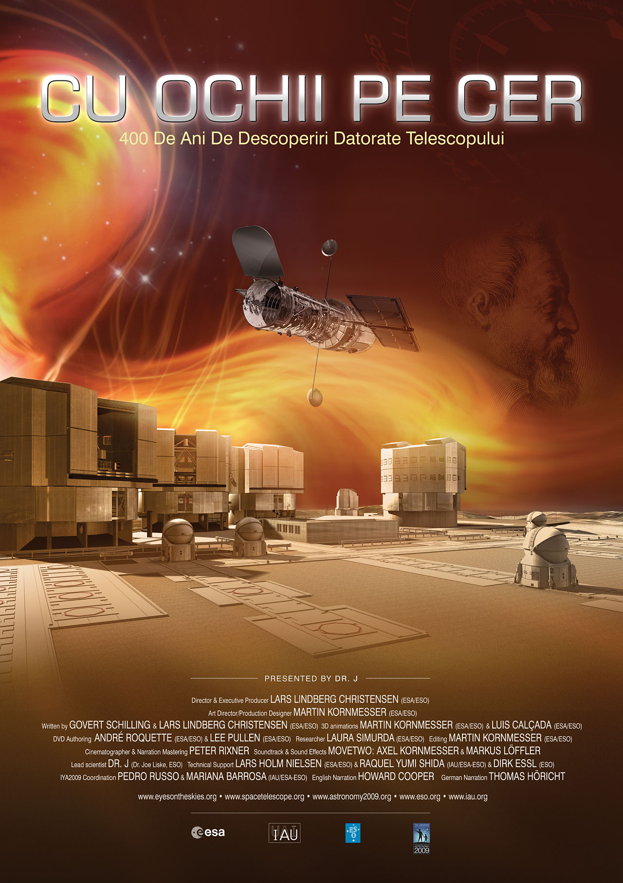Eyes on the Skies movie poster in Romanian | ESA/Hubble