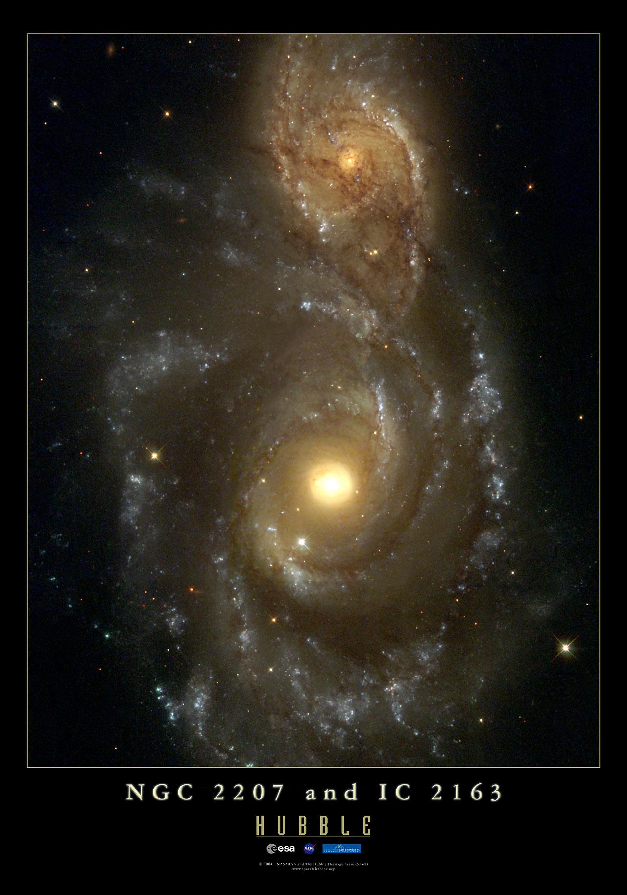 NGC 220, Colliding Galaxies