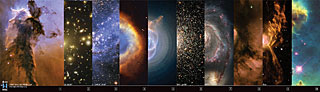 Set of 10 Hubble stickers (1-10) (SOLD OUT)