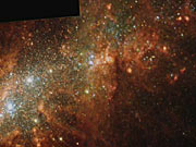 Pan over starburst galaxy NGC 1569