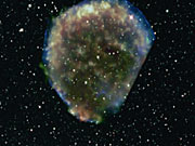 Zooming on the area of Tycho's Supernova
