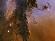Panning on the Eagle Nebula