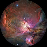 The Orion Nebula in fulldome