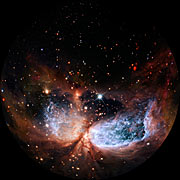Fulldome clip of emission nebula
