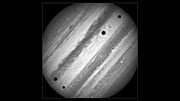 Time-lapse of Jupiter's three moon transit