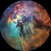 Fulldome view of the Lagoon Nebula