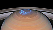 Animation of Saturn's northern auroras